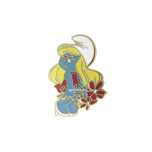 [USA][Brooch]Smurf(Smurfette-Flowers).스머프 빈티지브로치