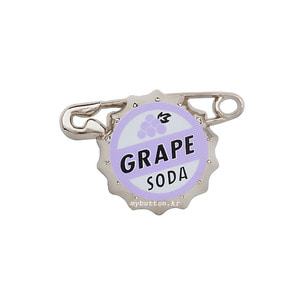 [USA][Pin][Disney/Pixar]Up_Russell's Grape soda pin.업 그레이프소다버틀캡 핀뱃지