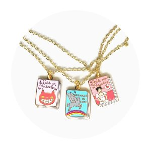 [Book Charm][3TYPE]Alice in Wonderland/A Wrinkle in Time/Pride and Prejudice
