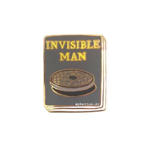 [BP][Pin]Book pins_Invisible Man.투명인간 북뱃지