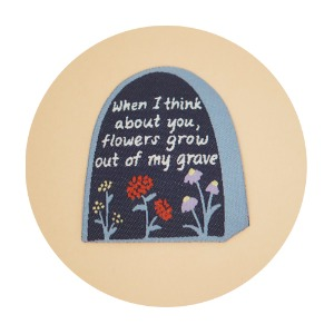 [Justine][Patch]Flowers grow out my grave.Iron-On 패치